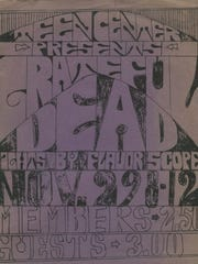 One of the posters for the Grateful Dead 1968 show.