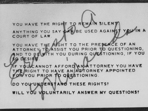 50 years after the 'right to remain silent,' are we more