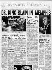 The April 5, 1968 edition of The Tennessean.