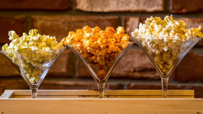 Sweet and spicy flavors are infused into Morris Tap & Grill's new 'Popcorn Trio' appetizer.