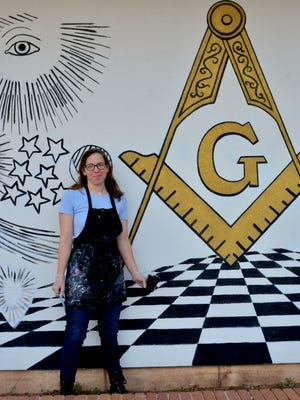 A week and a half ago, Audra Lambert began painting her newest mural on the Faith Masonic Lodge No. 1158 on 3503 Kemp Blvd. The mural will be 27 feet long and 9 ½ feet tall, and the artist expects it to be completed by the end of this week.