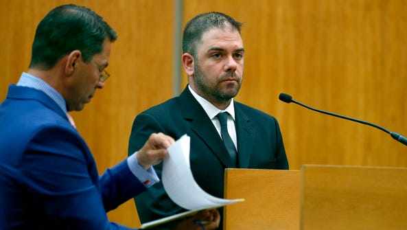 Ryan Pettrone, seen here at an earlier hearing, was