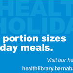 Watch your portion sizes this holiday season.