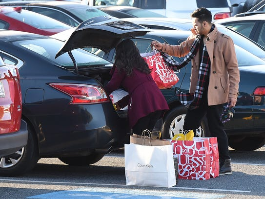 Black Friday shoppers were out early on a chilly morning