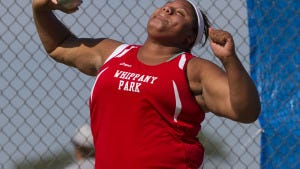 Whippany Park freshman Nickolette Dunbar won the Group I shot put in 2013. DOUG HOOD/ASBURY PARK PRESS