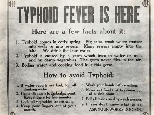 A typhoid fever public service announcement.