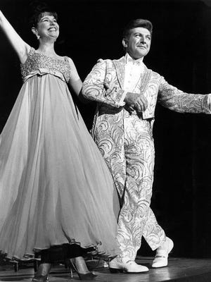 Liberace, pictured here with Karen Wessler, brought his flamboyant style and talent to Memphis in December 1965.