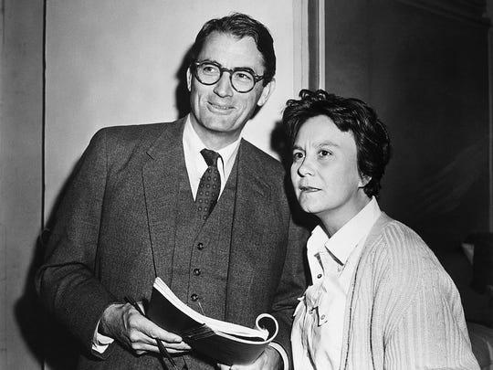 Actor Gregory Peck and novelist Harper Lee in 1962