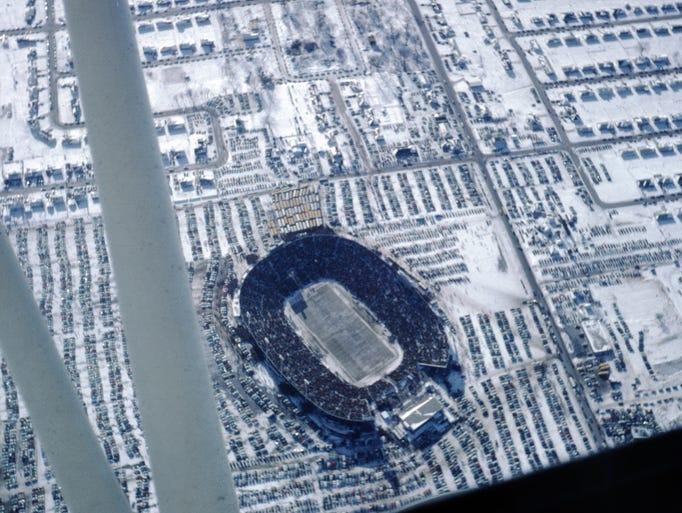 This photo of Lambeau Field on Dec. 31, 1967 was taken