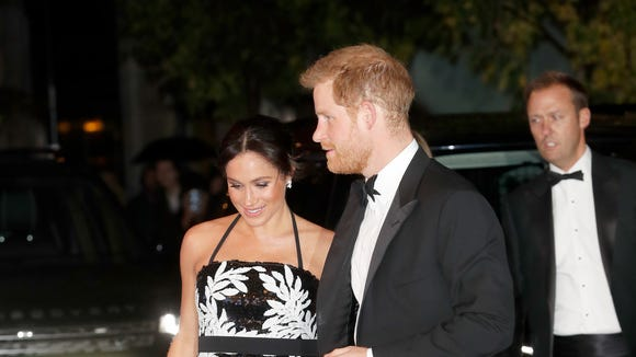 Harry and Meghan step out at the annual Royal Variety