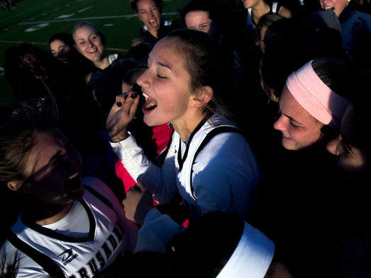 Bishop Eustace's celebrates as they claim the state