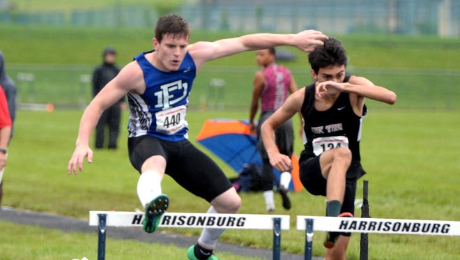 "Fort Defiance's Matt Wonderley won the 55 hurdles and the triple jump in a ""polar bear"" track meet Tuesday at Fort Defiance High School."