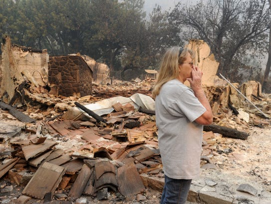 Judy Bell lost her home to the Thomas Fire. She lives