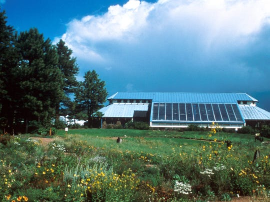 The Horticulture Center is a passive solar greenhouse surrounded by meadows that blaze with wildflowers during the summer.
