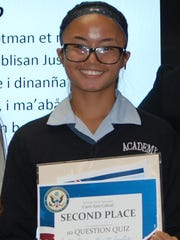 """Academy of Our Lady of Guam Senior Cari Ann Cabral recently garnered second place winner of the Constitution Quiz contest associated with the Federal Judiciary's 2017 """"Constitution Day/Citizenship Day"""" Celebration activities. Kudos to the Academy Seniors who participated, especially CarriAnn Cabral who placed in the contest."""