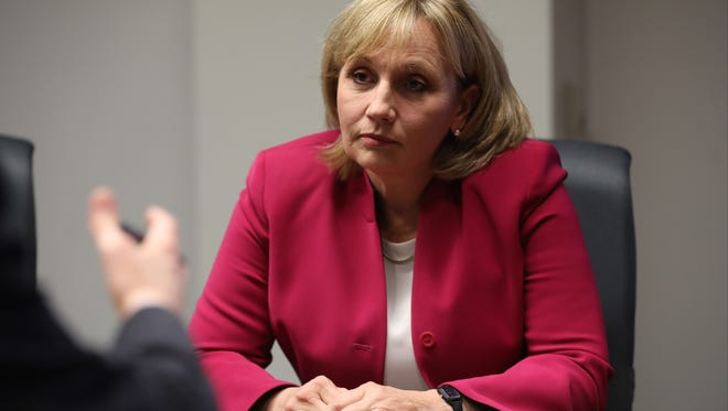 Lt. Gov. Kim Guadagno speaks to The Record about her run for governor on Tuesday.