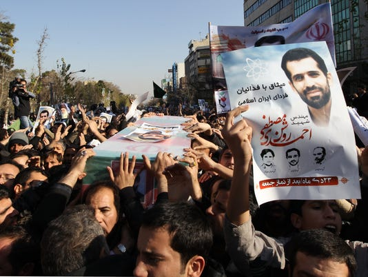 Iranian nuclear scientist funeral