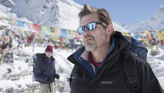 """Josh Brolin plays one of the climbers in """"Everest,"""" which is based on a true story."""