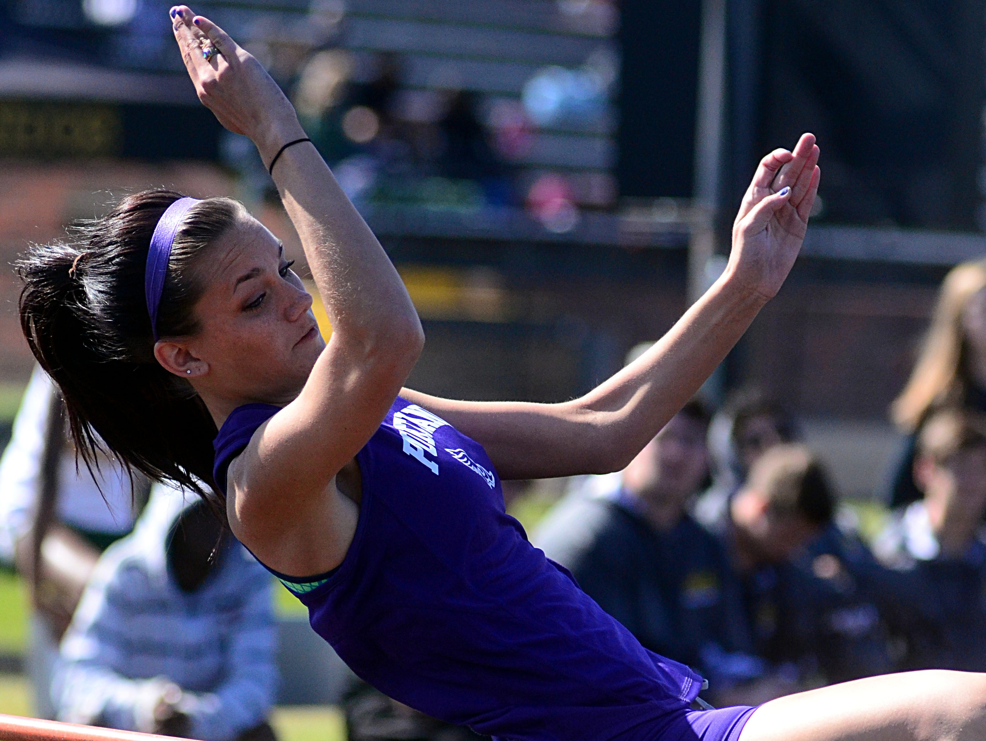 Portland High senior Sam England finished seventh in the girls' high jump, with a best effort of 4-4.