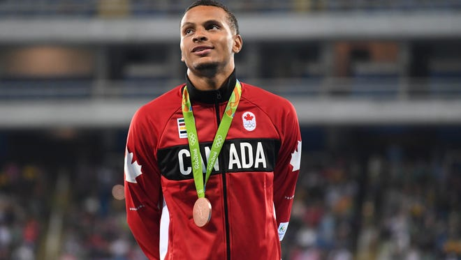 Andre de Grasse has his eyes on another medal in Rio.
