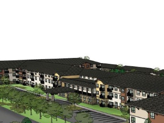 This drawing shows the Affinity senior living community being built north of Front Range Village in southeast Fort Collins.