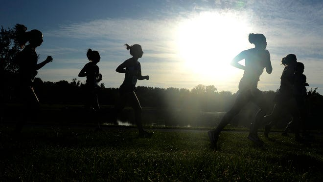 Runners from more than 50 schools participate in the Astronaut Invitational at Chain of Lakes Park.