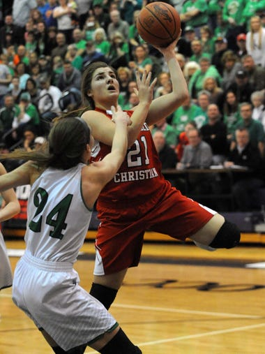 Fairfield Christian's Sophia Sterling goes in for a
