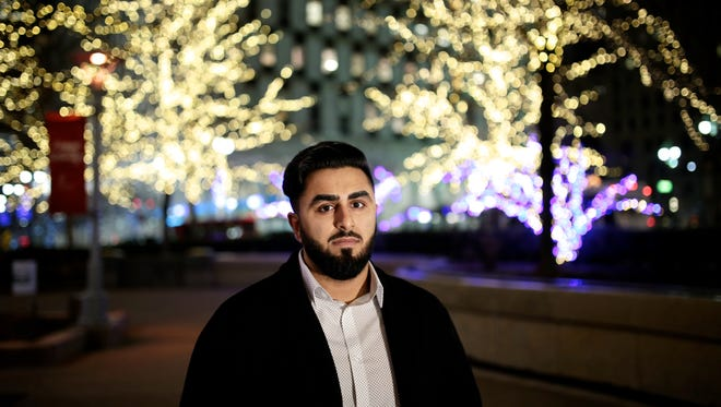 Shaffwan Ahmed, 26, of Detroit, is a community organizer and activist, photographed on Tuesday, December 8, 2015, in Detroit.