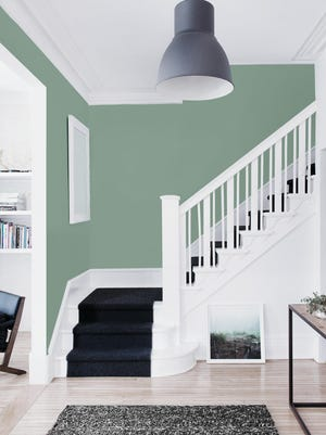 PPG Paints' 2016 color of the year is Paradise Found, a complex, leafy hue. Green is a trending color this spring as people respond to wellness trends and the need for calmness in a hectic world.