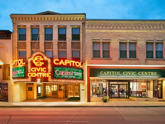 Exterior of the Capitol Civic Centre in downtown Manitowoc.