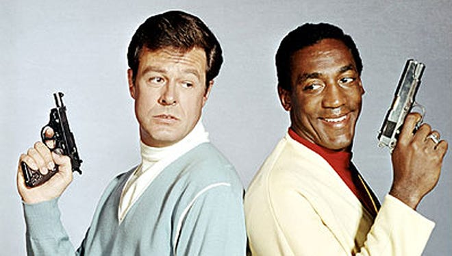 Robert Culp (left) and Bill Cosby from the 1965 series I SPY.  Credit: NBC.
