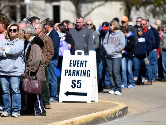 People lined up last year to get inside the 69th annual Heritage Federal Credit Union Home Show held at Evansville's Old National Events Plaza.