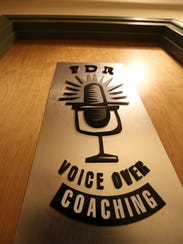 Voice over coach Peter Rofe's studio in Irvington.