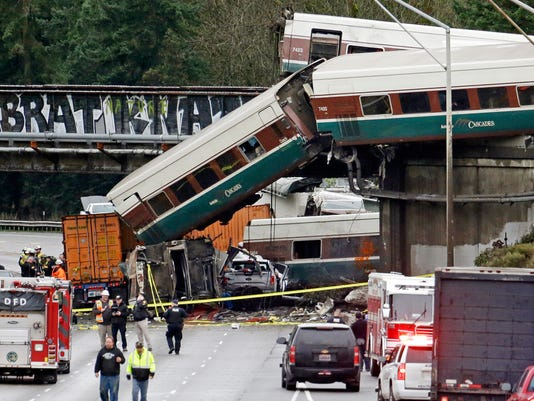 AP APTOPIX TRAIN DERAILMENT WASHINGTON STATE A USA WA