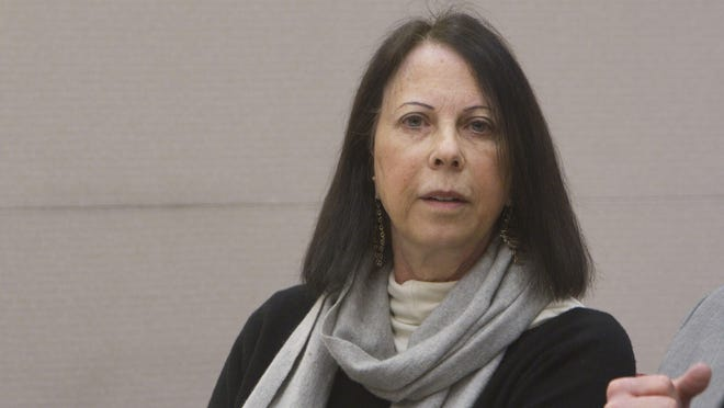 Barbara Lieberman in state Superior Court in Atlantic County for a hearing. She has pleaded guilty to money laundering in a case that involved stealing money from 16 elderly victims