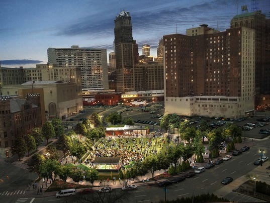 Dte Energy S Vision For New Downtown Detroit Park Unveiled