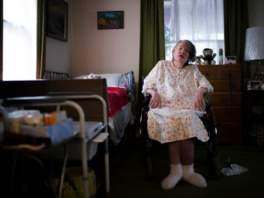 Alice Smith, 68, who is disabled, is pictured inside