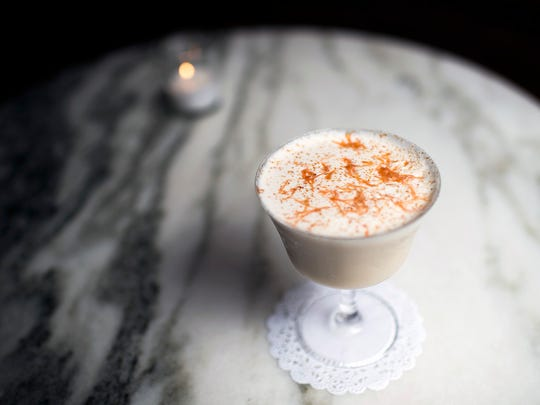 There's something reminiscent of a Ramos Gin Fizz in