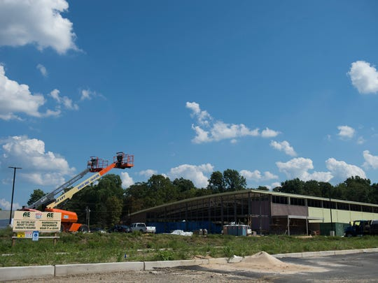 Construction of German supermarket chain Lidl continues on Landis Avenue in Vineland.