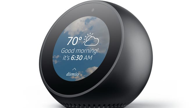 Amazon Echo Spot with Alexa has a 2.5-inch display.
