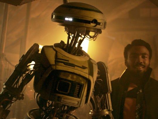 Donald Glover as Lando Calrissian and Phoebe Waller-Bridge