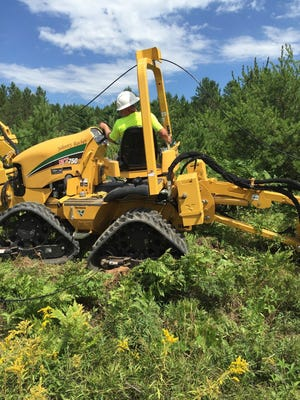 Underground cable is being installed in Vilas County, where broadband providers are ramping up service to cover more than 90% of the county.