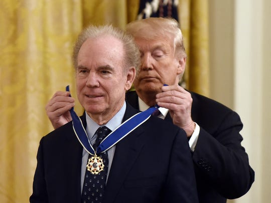 US President Donald Trump presents the Presidential Medal of Freedom - DC