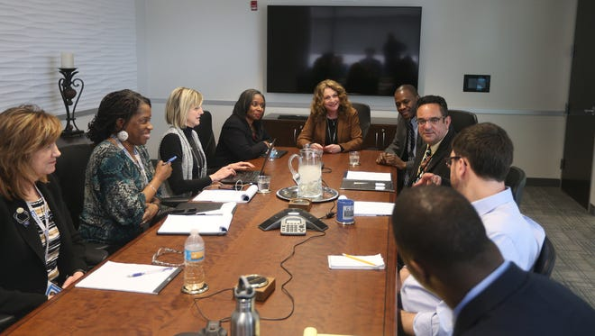 Rochester City School District Superintendent Barbara Deane-Williams meets with the Editorial Board last year.