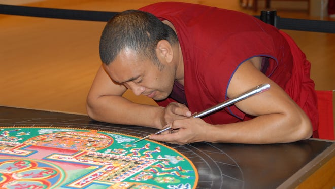 Tibetan monks will visit Salisbury University on April 12 to create and display their unique art.