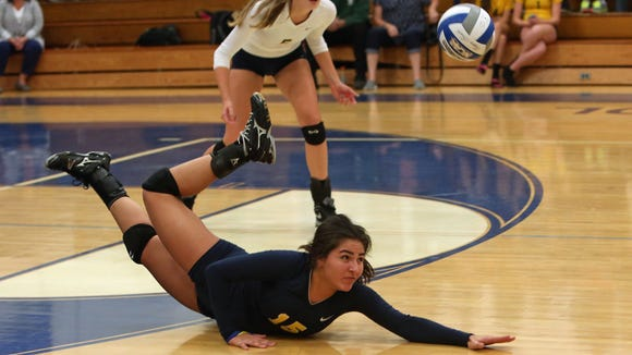 Panas libero Sabrina Patriciello (15) was a first-team all-state selection as a sophomore last season.