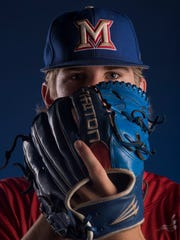Montgomery Advertiser All-Metro AISA Baseball Player of the Year Drew Baker, of Macon-East Academy, is shown in Montgomery, Ala. on Tuesday May 29, 2018.