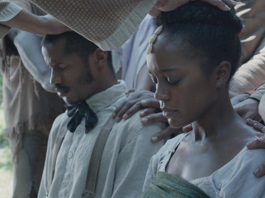 "Nate Parker and Aja Naomi King in ""The Birth of a Nation."""