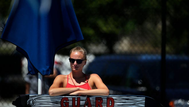 A lifeguard keeps watch at Erb Pool in Appleton.