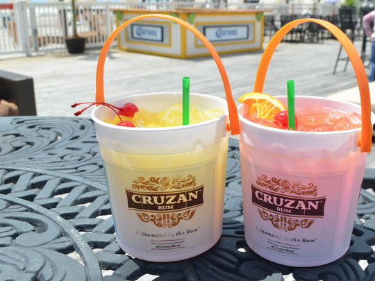 Cruzan bucket cocktails are the hottest drink of the summer at Bally's Beach Bar in Atlantic City.